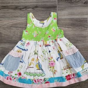 Boutique Sweet Honey lovebird dress size 18 months